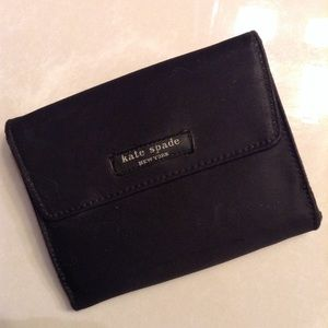 KATE SPADE Francis french wallet black nylon